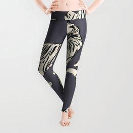 White tiger pattern 002 Leggings