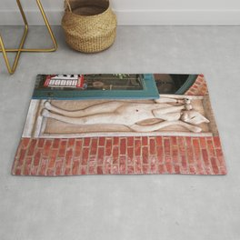 The Cannery Cat  Rug