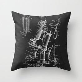 Microscope 1908 Patent Throw Pillow