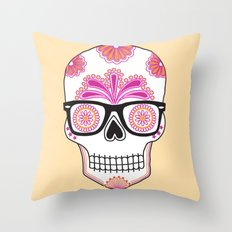 sugar skull #bonethug Throw Pillow