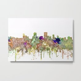 Anchorage, Alaska Skyline - Faded Glory Metal Print