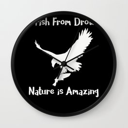 This Bird Just Saved This Fish From Drowing Nature is Amazing Funny Birds of Prey Wall Clock