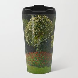 Lady in the garden Travel Mug