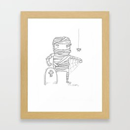 A Spiderrrrrrr Framed Art Print