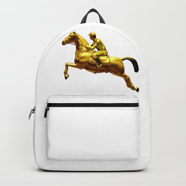 Horse Rider Gold Backpack