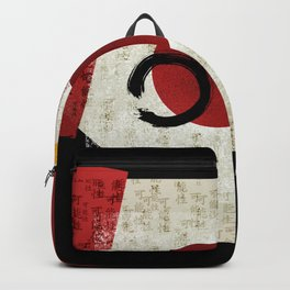 Zen Ensō Circle with Kanji Potential Backpack