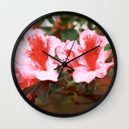 Azaleas blooming Wall Clock