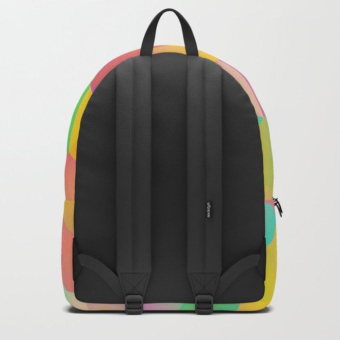 Rainbow Cubes (Vibrant Transparent Hexagon) Backpack