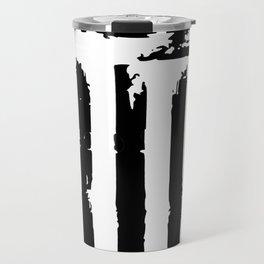 Grunge American Flag Travel Mug