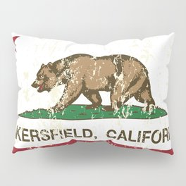 Fremont California Republic Flag Distressed  Pillow Sham