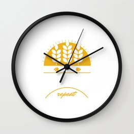 Eat Sleep Home Brewery Repeat Beer Brewing Ciders Fermentation Gift Wall Clock