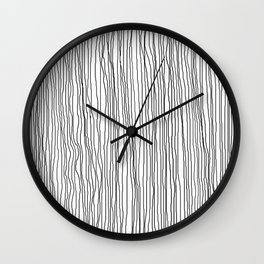 Vertical Lines 1 Wall Clock