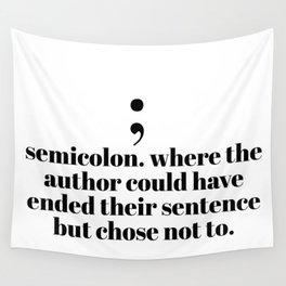 semicolon Wall Tapestry