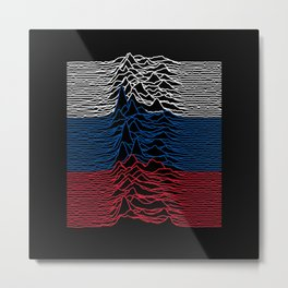 Unknown Pleasures Russia Remix Metal Print