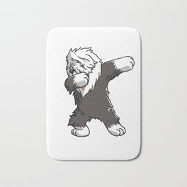 Funny Dabbing Old English Sheepdog Dog Dab Dance Bath Mat