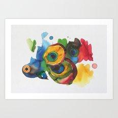 Colorful fish 3 Art Print