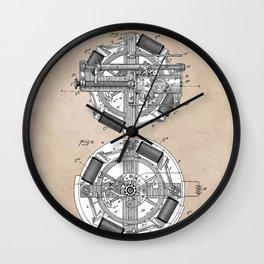 patent art Edison 1888 Phonograph Wall Clock