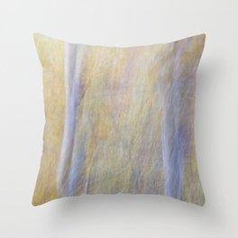 Silver Birch in the Autumn Throw Pillow