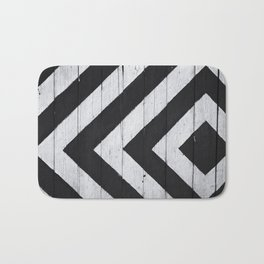 Black And White Lines Bath Mat