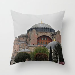 Hagia Sophia Monument, Istanbul Turkey Throw Pillow