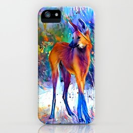 Rainbowsplatter Maned Wolf iPhone Case