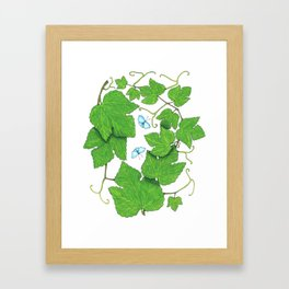 Grape Leaves Framed Art Print