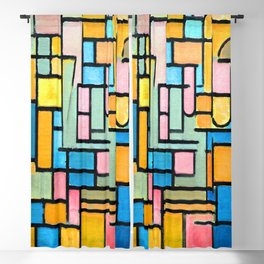 Piet Mondrian Tableau III Blackout Curtain