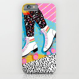 Steeze - 80's memphis rollerskating rad neon trendy art gifts throwback retro vibes iPhone Case