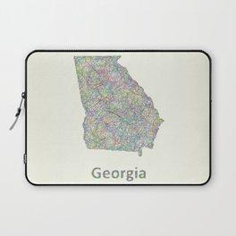 Georgia map Laptop Sleeve