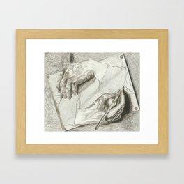 Drawing Hands, MC Escher Framed Art Print