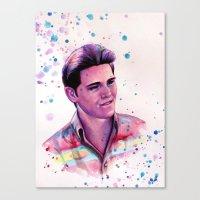 jake Canvas Prints featuring Jake by Olga Noes