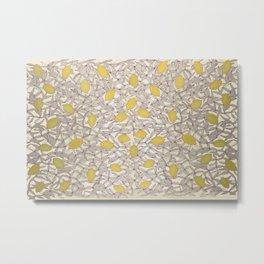 Lemon Shadows Metal Print