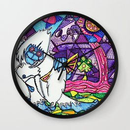 Yeti Love Pink Lemonade Wall Clock