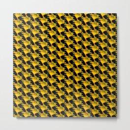 Yellow Retro Three Metal Print