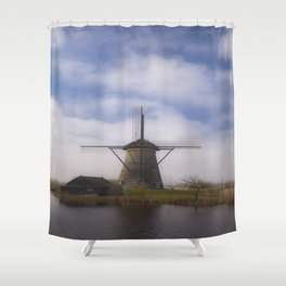 Kinderdijk Windmill III Shower Curtain