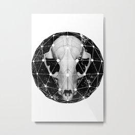 geometric raccoon skull Metal Print