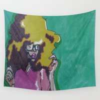 lip Wall Tapestries featuring Lip Sync by Stephon Daniels
