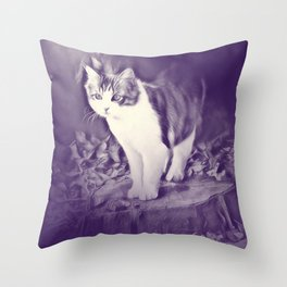 Podium (cat) by GEN Z Throw Pillow
