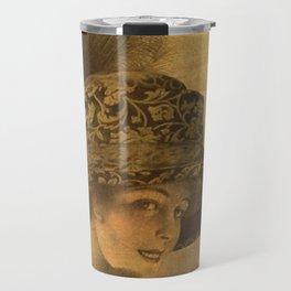 Golden victorian lady Travel Mug