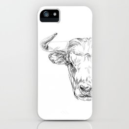 Bull illustration iPhone Case