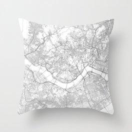 Seoul Map, Art Print By LandSartprints Throw Pillow