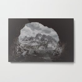 Fog in the Mountain Metal Print