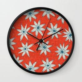 sema fire orange blue Wall Clock