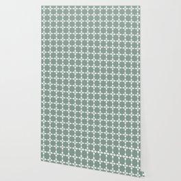 Droplets Pattern - White & Sage Green Wallpaper