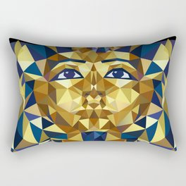 Golden Tutankhamun - Pharaoh's Mask Rectangular Pillow