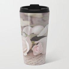 Pink Rose nostalgic Still Life Metal Travel Mug