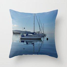 Perfect Morning After Sailing Throw Pillow