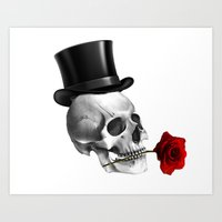 skull lover Art Print
