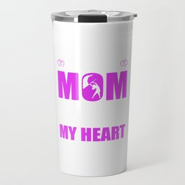 Color Guard Moms Full Heart Mothers Day T-Shirt Travel Mug