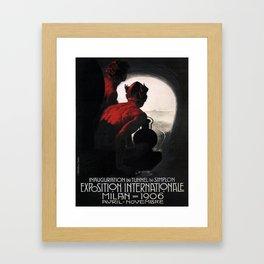Vintage poster - Milan Framed Art Print